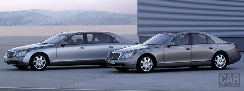 Обои автомобили Maybach 57 and Maybach 62 - 2002 - Car wallpapers