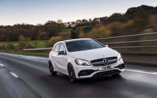 Обои автомобили Mercedes-AMG A 45 4MATIC UK-spec - 2015