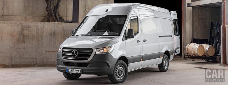 Обои автомобили Mercedes-Benz Sprinter Panel Van UK-spec - 2018 - Car wallpapers