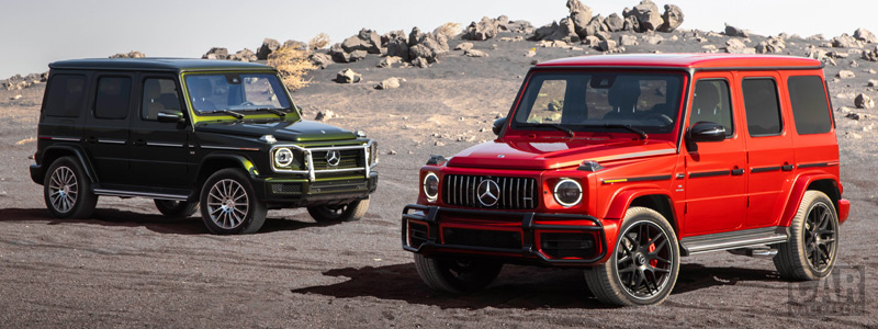 Обои автомобили Mercedes-Benz G 550 and Mercedes-AMG G 63 US-spec - 2018 - Car wallpapers