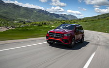 Обои автомобили Mercedes-Benz GLS 580 4MATIC AMG Line (Designo Cardinal Red) US-spec - 2019