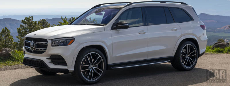 Обои автомобили Mercedes-Benz GLS 580 4MATIC AMG Line (Diamond White) US-spec - 2019 - Car wallpapers