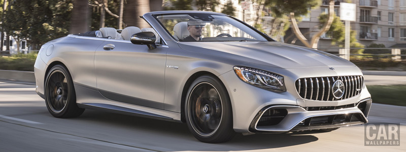 Обои автомобили Mercedes-AMG S 63 4MATIC+ Cabriolet US-spec - 2018 - Car wallpapers