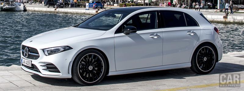 Обои автомобили Mercedes-Benz A 180 d AMG Line - 2018 - Car wallpapers