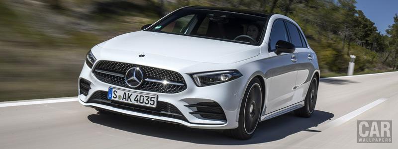 Обои автомобили Mercedes-Benz A 200 AMG Line - 2018 - Car wallpapers