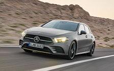 Обои автомобили Mercedes-Benz A-class AMG Line Edition - 2018