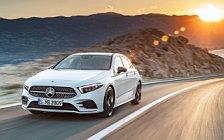 Обои автомобили Mercedes-Benz A-class AMG Line - 2018
