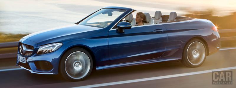 Обои автомобили Mercedes-Benz C 400 4MATIC Cabriolet AMG Line - 2016 - Car wallpapers
