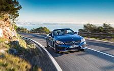 Обои автомобили Mercedes-Benz C 400 4MATIC Cabriolet AMG Line - 2016