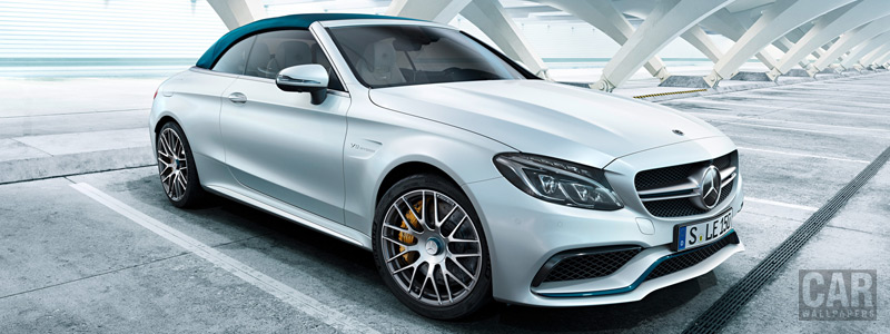 Обои автомобили Mercedes-AMG C 63 S Cabriolet Ocean Blue Edition - 2017 - Car wallpapers