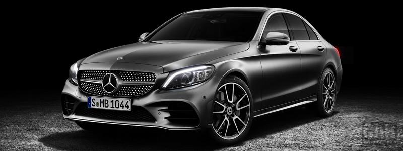 Обои автомобили Mercedes-Benz C-class AMG Line - 2018 - Car wallpapers