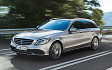 Обои автомобили Mercedes-Benz C-class Estate Exclusive Line - 2018