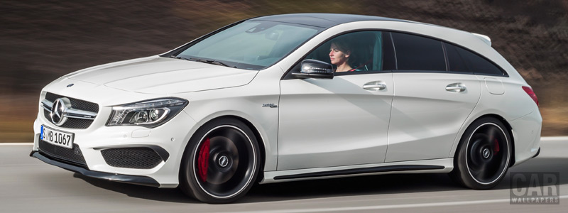 Обои автомобили Mercedes-AMG CLA45 Shooting Brake - 2015 - Car wallpapers