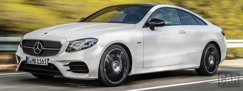 Обои автомобили Mercedes-Benz E 400 4MATIC Coupe AMG Line Edition 1 - 2017 - Car wallpapers