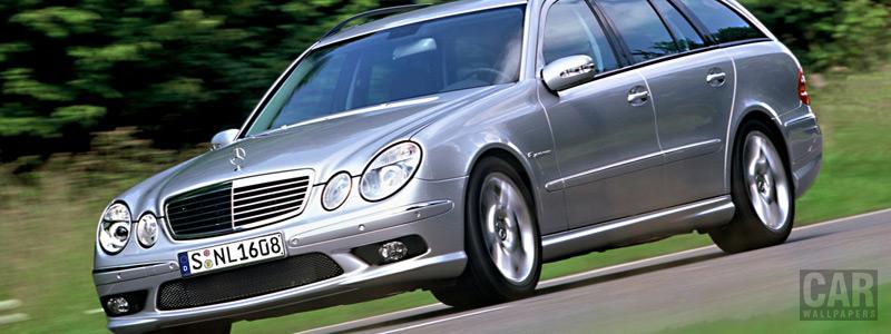 Обои автомобили Mercedes-Benz E55 AMG Estate - 2003 - Car wallpapers