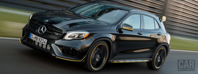Обои автомобили Mercedes-AMG GLA 45 4MATIC Yellow Night Edition - 2017 - Car wallpapers