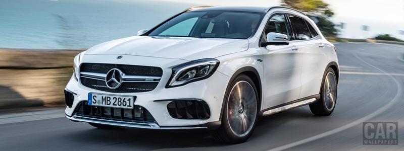 Обои автомобили Mercedes-AMG GLA 45 4MATIC - 2017 - Car wallpapers