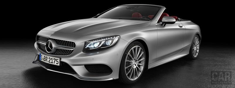 Обои автомобили Mercedes-Benz S 500 Cabriolet AMG Line - 2015 - Car wallpapers