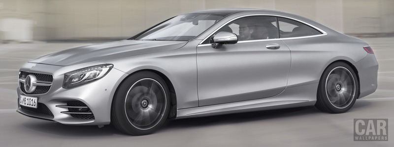 Обои автомобили Mercedes-Benz S 560 Coupe AMG Line - 2017 - Car wallpapers