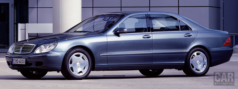 Обои автомобили Mercedes-Benz S600 W220 - 1999 - Car wallpapers