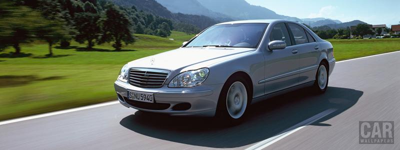 Обои автомобили Mercedes-Benz S500 4matic w220 - 2002 - Car wallpapers