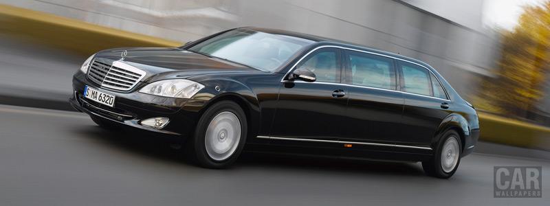 Обои автомобили Mercedes-Benz S600 Pullman Guard - 2008 - Car wallpapers