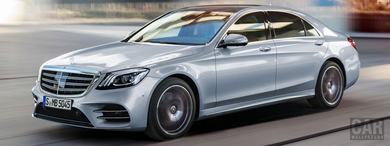 Обои автомобили Mercedes-Benz S-class AMG Line - 2017 - Car wallpapers
