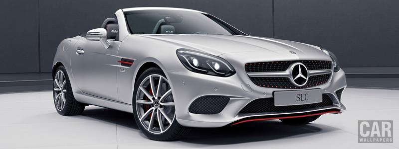 Обои автомобили Mercedes-Benz SLC-class RedArt Edition - 2017 - Car wallpapers