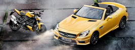 Mercedes-Benz SLK55 AMG and Ducati Streetfighter 848 - 2011