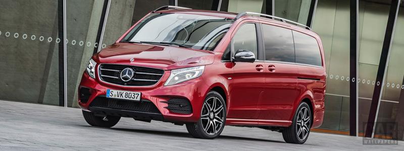 Обои автомобили Mercedes-Benz V-class Designo Hyacinth Red Metallic - 2017 - Car wallpapers