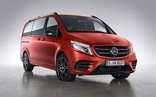 Обои автомобили Mercedes-Benz V-class Designo Hyacinth Red Metallic - 2017